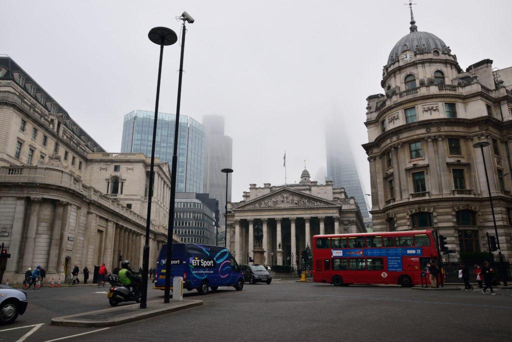 ロンドンの金融の中心街