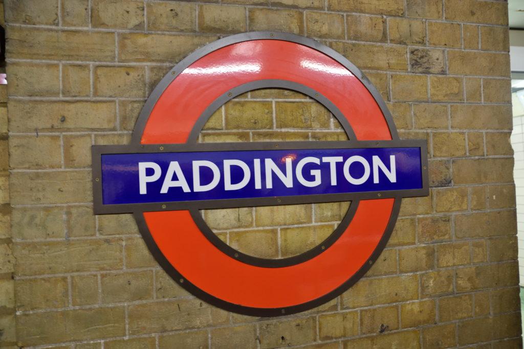 パディントン駅の地下鉄マーク