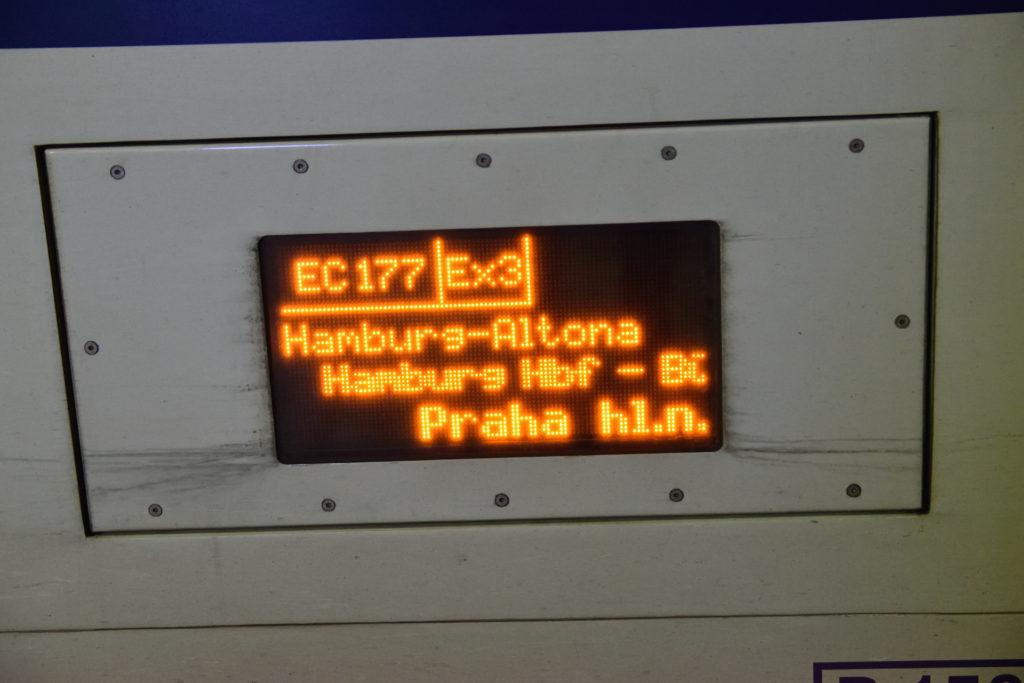 チェコ・プラハ行きのEC