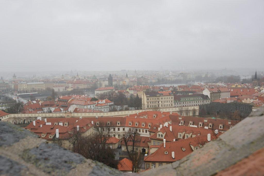 プラハ城裏側からの眺め