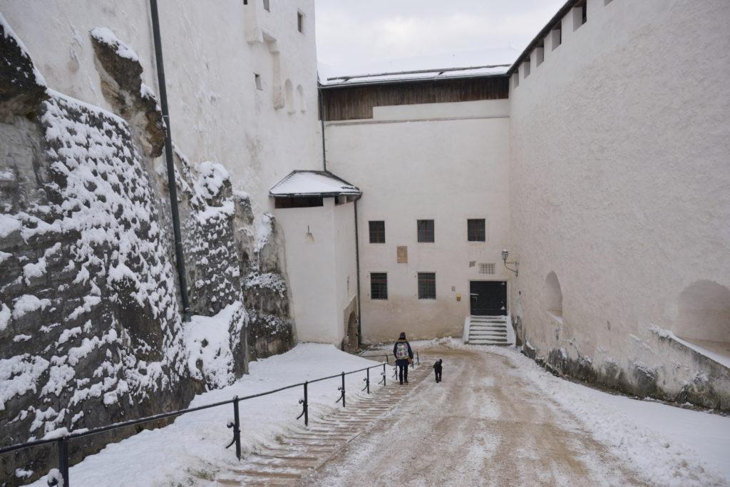 ザルツブルク場内の坂道