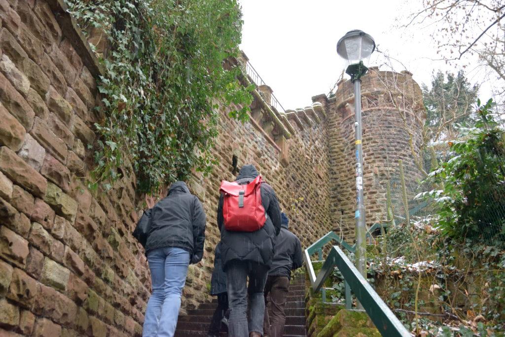 ハイデルベルク城へとのぼる階段