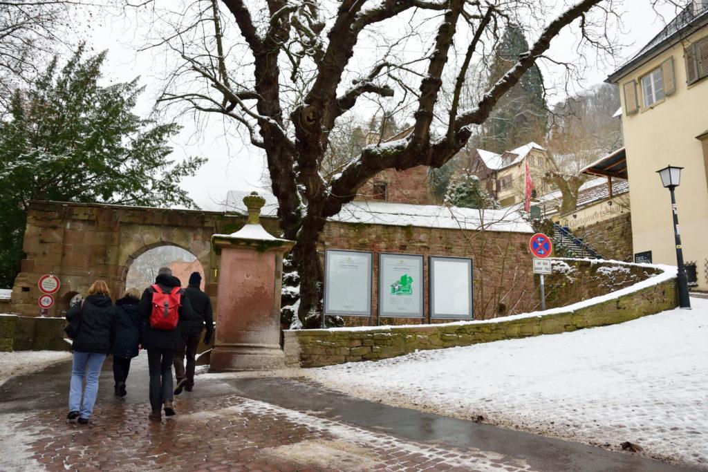 ハイデルベルク城の門
