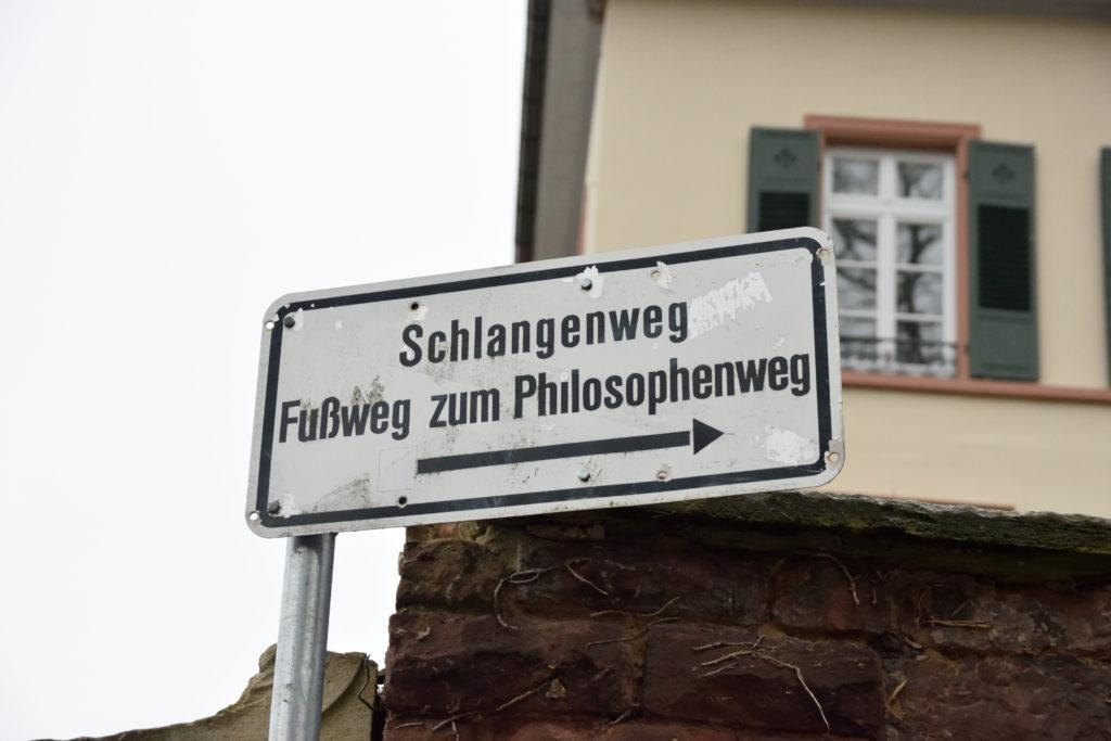 哲学の道の標識