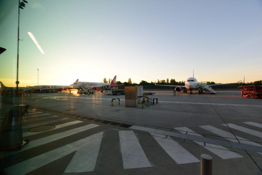 朝のベルリン・テーゲル空港