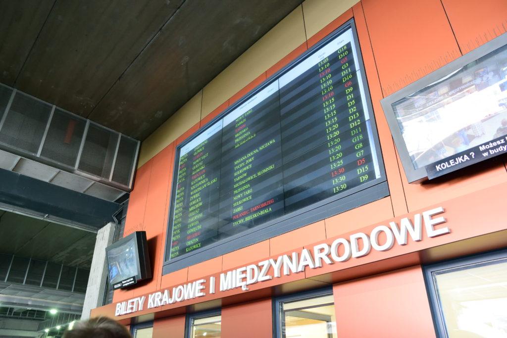 クラクフのバスターミナル
