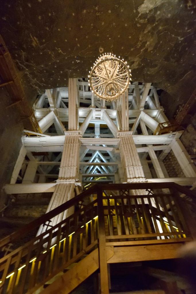 坑内にあった巨大な木組み