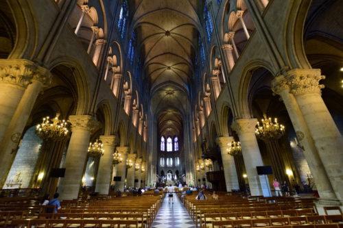 ノートルダム大聖堂の内部