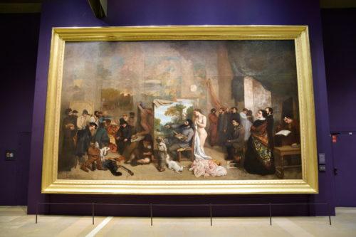 『L'Atelier du peintre』(1855) Gustave Courbet/グスタフ・クールベ
