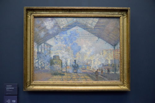 『La Gare Saint-Lazare/サン・ラザール駅』(1877) Claude Monet /クロード・モネ