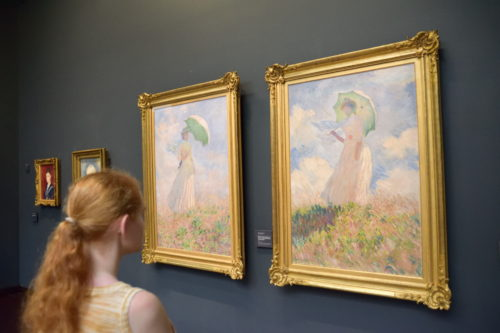 『Essai de figure en plein-air : Femme à l'ombrelle tournée vers la gauche/戸外の人物習作』(1886) Claude Monet /クロード・モネ