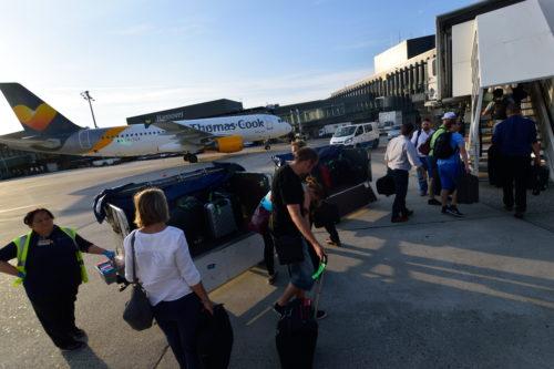 ハノーファー空港に到着