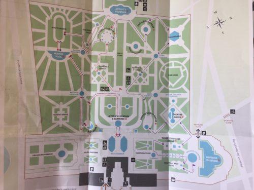 ヴェルサイユ庭園のマップ