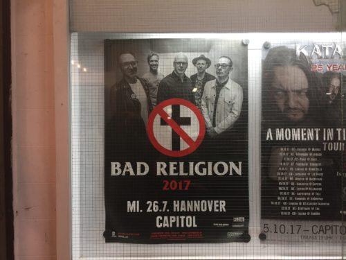 バッド・レリジョン、ドイツ公演のポスター
