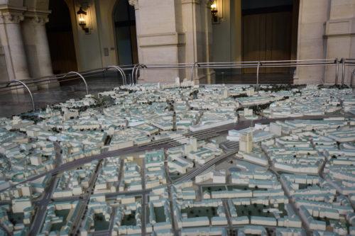 現在のハノーファーの街並の模型