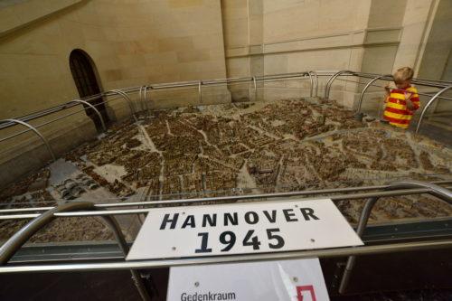 戦後のハノーファーの街の模型