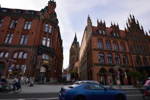 ハノーファーの旧市街の街並み