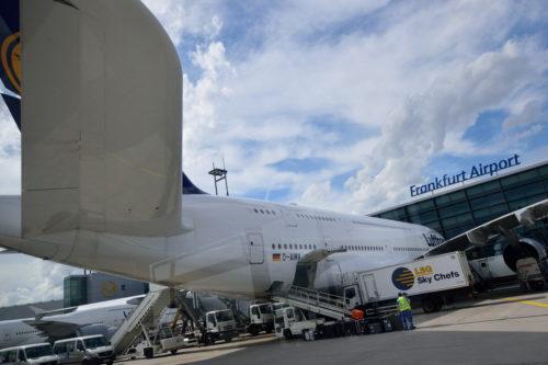尾翼から観たベルーガA380