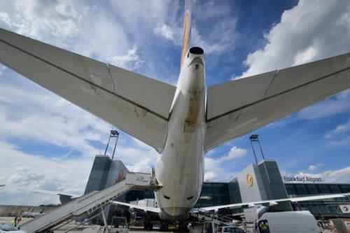 B747の機尾
