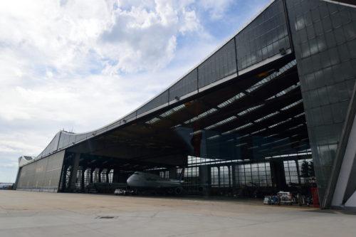 フランクフルト空港のルフトハンザの格納庫