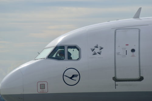手を振るパイロット