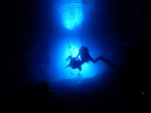 洞窟の出口