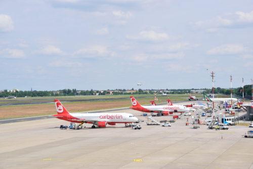 ベルリン・テーゲル空港のエア・ベルリン機