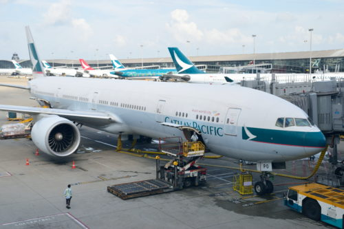 キャセイパシフィック航空のB777-300ER