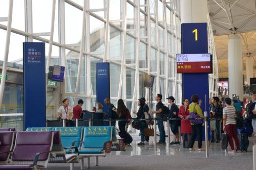 香港国際空港の搭乗ゲート