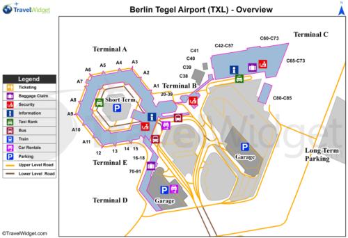 ベルリン・テーゲル空港の構内図