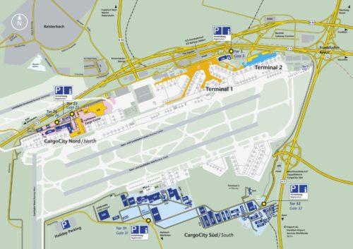 フランクフルト国際空港の構内図