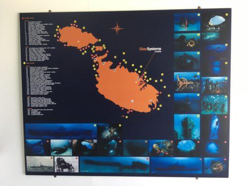 マルタ島のダイビングスポット一覧