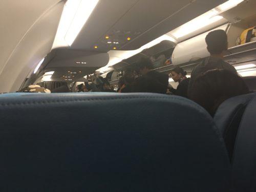 羽田→マニラ深夜便の機内