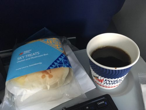 フィリピン航空国内線の軽食