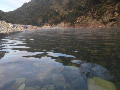温泉の水面