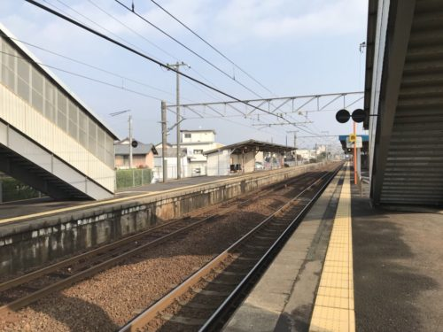 乃木駅のホーム
