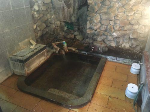 四万温泉河原の湯の浴場