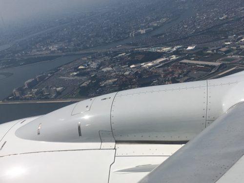 羽田空港着陸時に見えるディズニー