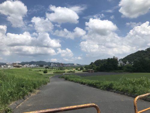 渡良瀬川の河川敷