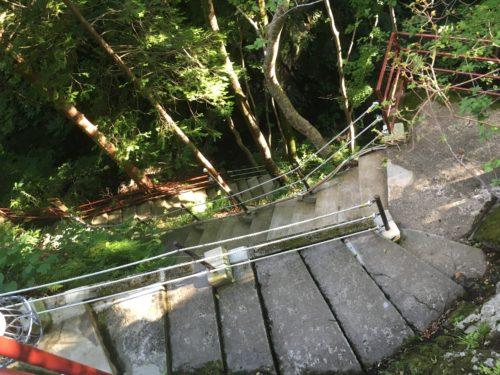 仙人岩風呂へ続く階段