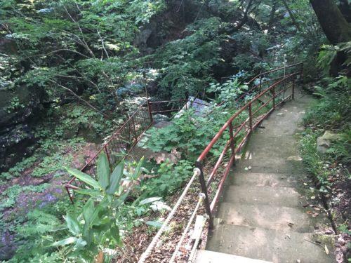 上から見た仙人岩風呂