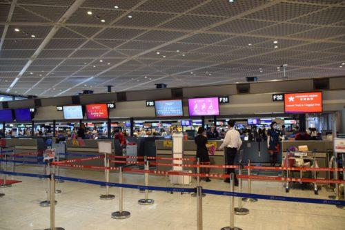 香港航空のチェックインカウンター