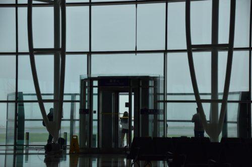 香港空港の展望デッキ
