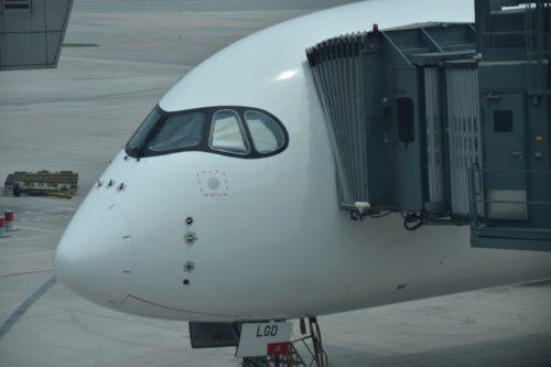 香港航空A350-900の機首部分