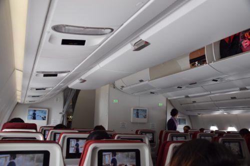 香港航空A350の機内