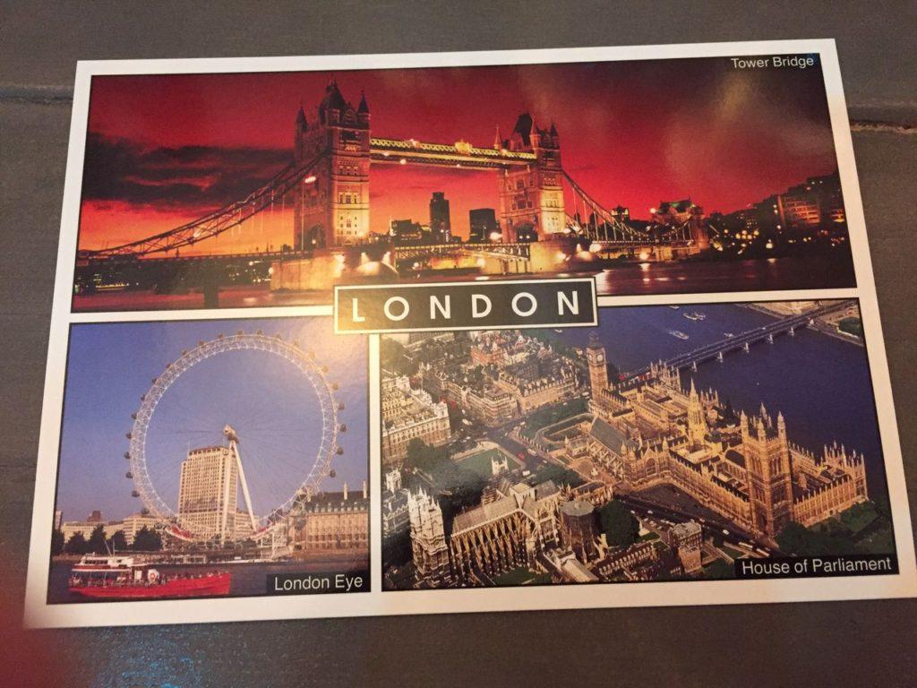 ロンドンのはがき