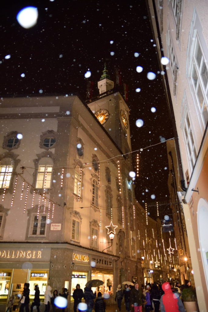 雪のザルツブルク旧市街
