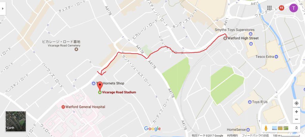 駅から会場までの地図
