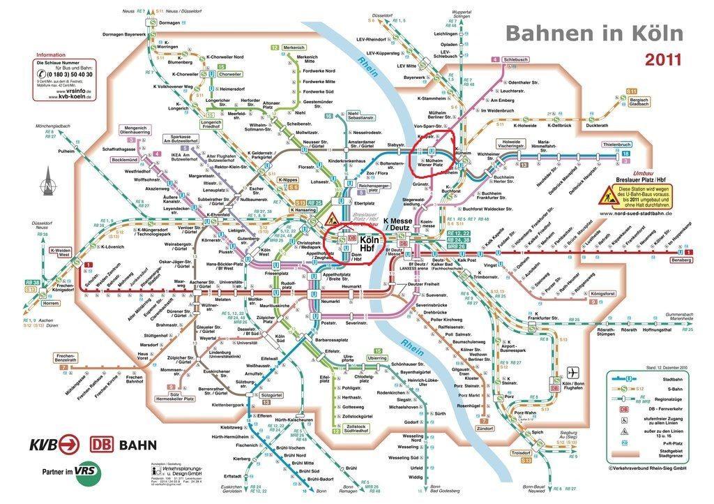 ケルン路線図