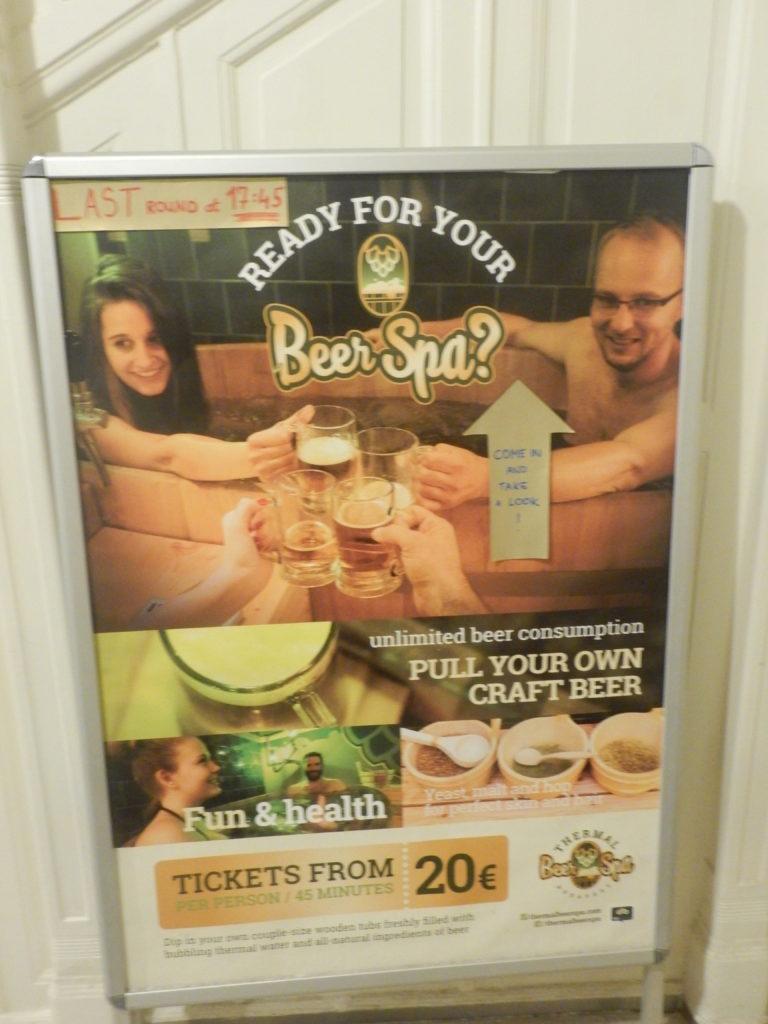 浴槽でビールの飲める温泉